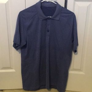 Lululemon men's blue s/s polo shirt sz L 57738